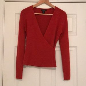 """SALE"" $50 Faux Wrap sweater"